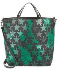 Valentino - Star-print Leather Tote - Lyst