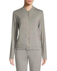 Hanro Balance Zip-up Jacket - Gray