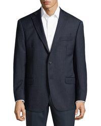 Michael Kors Stripe Wool Jacket - Blue