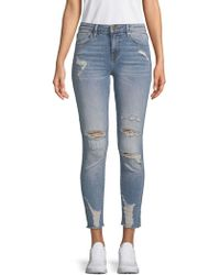 Vigoss Marley Cropped Ripped Jeans - Blue