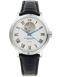 Raymond Weil Stainless Steel & Leather-strap Automatic Watch - Black