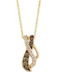 Le Vian - 14k Honey Gold Vanilla Diamonds & Chocolatier® Chocolate Diamonds Gladiator Weavetm Pendant Necklace - Lyst