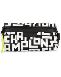 Longchamp Graphic Nylon Cosmetic Case - Black