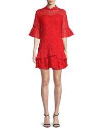 Lea & Viola - Bell-sleeve Lace Dress - Lyst