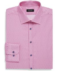 Sand - Classic Fit Printed Cotton Dress Shirt - Lyst