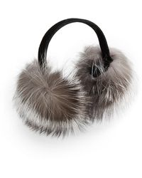 Surell Fox Fur Expandable Earmuffs - Brown