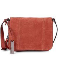 Vince Camuto Leather & Suede Crossbody Bag - Multicolor
