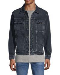 Hudson Jeans Distressed Denim Jacket - Blue