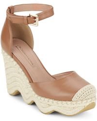 BCBGMAXAZRIA - Goat Leather Wedge Espadrilles - Lyst