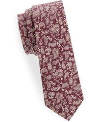 Joe's Collection - Paisley Slim Cotton Tie - Lyst