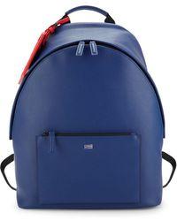 Class Roberto Cavalli Logo Luggage Tag Backpack - Blue