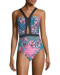 Laundry by Shelli Segal - One-piece Cut-out Swimsuit - Lyst