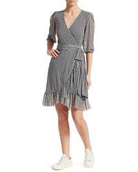 Ganni Women's Printed Mesh Dress - Black - Size 38 (6)