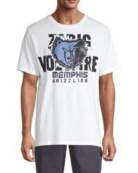 Zadig & Voltaire Men's Grizzlies Cotton Tee - White - Size L