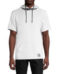 Karl Lagerfeld Men's Short-sleeve Hoodie - Black - Size M