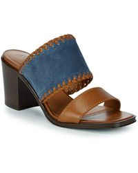 Frye - Ashley Suede And Leather Mules - Lyst