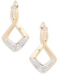 Effy | Diamond And 14k Yellow Gold Drop Earrings | Lyst
