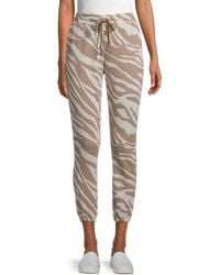 BB Dakota Women's Eye Of The Tiger Jogger Pants - Ivory - Size M - White