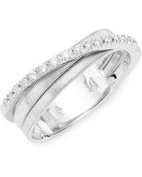Marco Bicego - Goa 18k White Gold Diamond Rings - Lyst