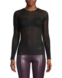 Wolford - Perforated Crewneck Jumper - Lyst