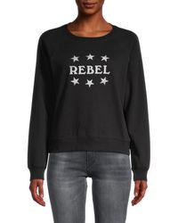 Rebecca Minkoff Graphic Cotton-blend Sweatshirt - Black