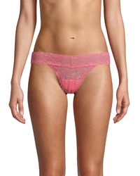 Ava & Aiden Lace Thong - Pink