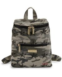 Peace Love World Camouflage Logo Cotton Backpack - Multicolour