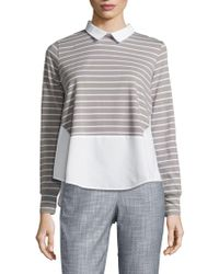 French Connection - Fresh Tim Tim Hi-lo Top - Lyst
