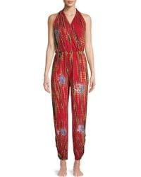 Green Dragon - Patterned Cover-up Jumpsuit - Lyst