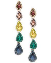 Jardin - Multicolored Crystal Drop Earrings - Lyst
