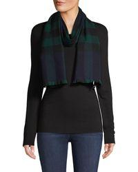 Burberry Plaid-print Wool & Cashmere-blend Scarf - Blue