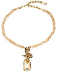 Heidi Daus Women's Goldplated & Multi-stone Bee Pendant Necklace - Metallic