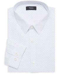 Theory Chevron-print Dress Shirt - White