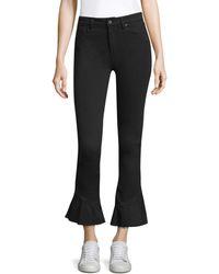PAIGE Flare Hem High-rise Jeans - Black