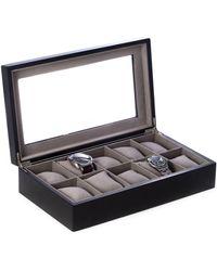 Bey-berk Wood 10-watch Box - Black