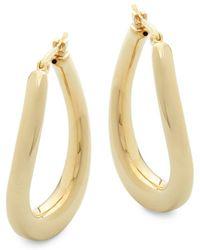 Saks Fifth Avenue - 14k Yellow Gold Hoops - Lyst