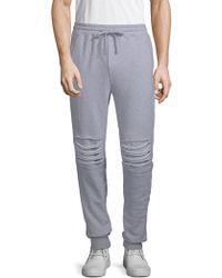 Russell Park - Distressed Cotton Jogger Trousers - Lyst