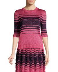 M Missoni Maglia Striped Knit Top - Pink