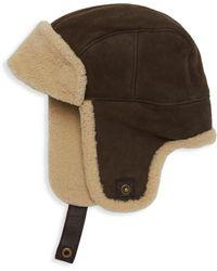 UGG Sheepskin Trapper Hat - Brown