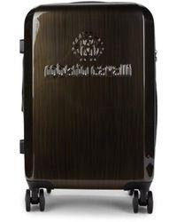 "Roberto Cavalli Woodlook 20"" Spinner Hardside Carry-on Suitcase - Black"