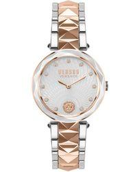 Versus Women's Two-tone Stainless Steel & Swarovski Crystal Watch - White