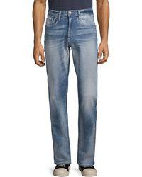 Buffalo David Bitton Vintage Evan-x Basic Slim Straight Jeans - Blue