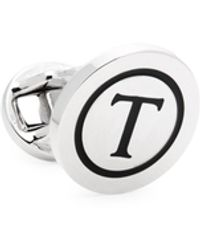 Saks Fifth Avenue Round T Cufflink - Multicolour