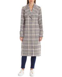 Avec Les Filles Menswear Plaid-printed Trench Coat - Multicolour