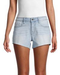 Vigoss Marley Mid-rise Denim Shorts - Blue