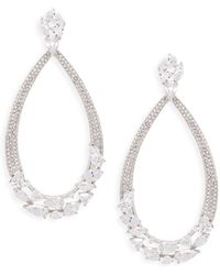Adriana Orsini - Roma Pavé Doorknocker Drop Earrings - Lyst
