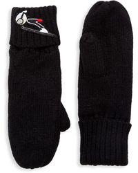 Karl Lagerfeld Faux Fur-lined Mittens - Black