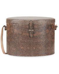 Hunting Season Women's Lizard Leather Trunk Bag - Taupe - Brown