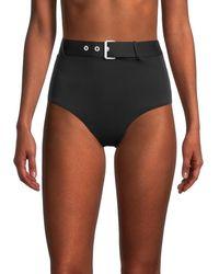 Love Moschino Belted Bikini Bottom - Black