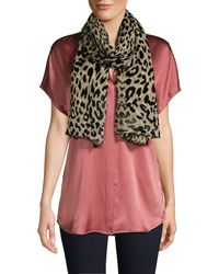 Karl Lagerfeld Leopard-burnout Scarf - Brown